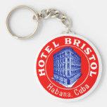1930 Hotel Bristol Cuba Basic Round Button Keychain