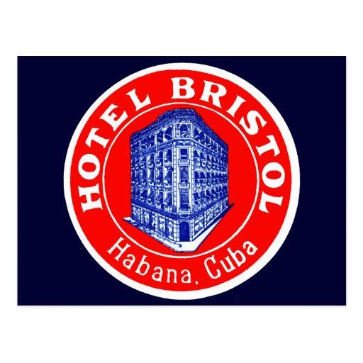 1930 Hotel Bristol Cuba Postcard