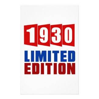 1930 Limited Edition Stationery