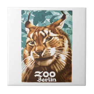 1930 Ludwig Hohlwein Berlin Zoo Lynx Poster Tile