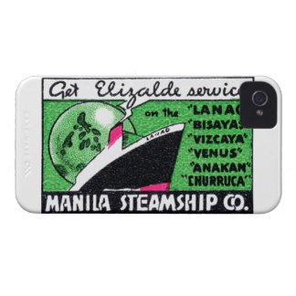 1930 Manila Steamship Company Case-Mate iPhone 4 Cases
