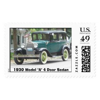 1930  Model-A 4 Door Sedan Stamp