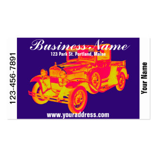 1930 Model A Ford Pickup Truck Pop Art Double-Sided Standard Business Cards (Pack Of 100)