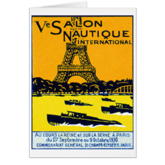 1930 Paris Boat Show Poster Greeting Cards