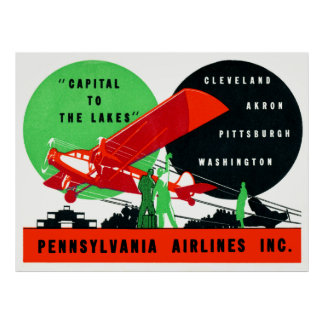 1930 Penn Airlines Poster