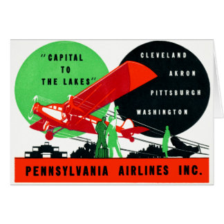 1930 Penn Airlines Poster Card