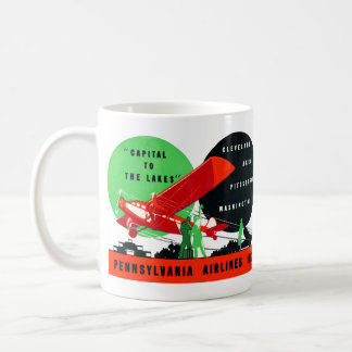 1930 Penn Airlines Poster Coffee Mug