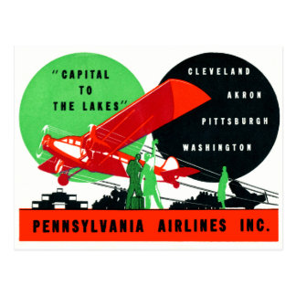 1930 Penn Airlines Poster Postcard