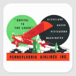 1930 Penn Airlines Poster Square Stickers