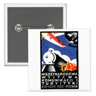 1930 Poznan Expo Poster Pinback Button