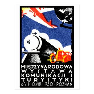 1930 Poznan Expo Poster Postcard