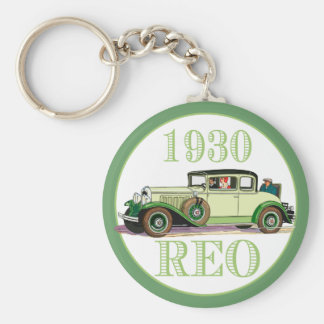 1930 REO Flying Cloud Model 20 Basic Round Button Keychain