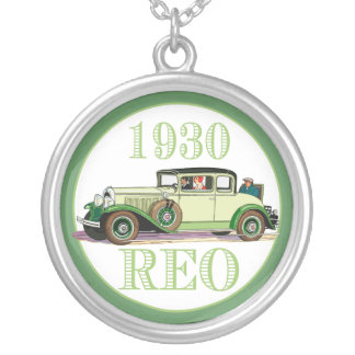 1930 REO Flying Cloud Model 20 Round Pendant Necklace