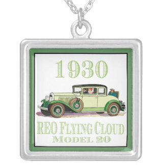 1930 REO Flying Cloud Model 20 Square Pendant Necklace