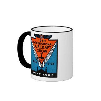 1930 St. Louis Air Show Ringer Mug