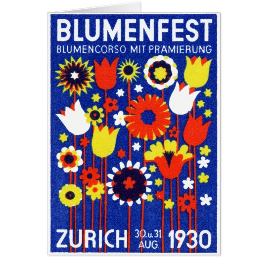 1930 Swiss Flower Show Card