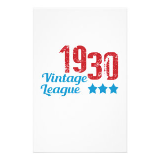 1930 vintage leaque stationery