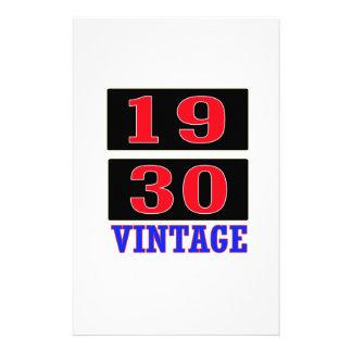 1930 Vintage Stationery