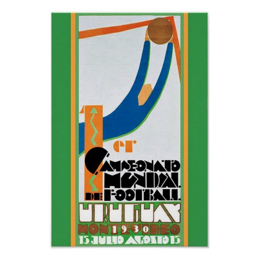 1930 Vintage World Cup Football Poster print