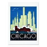 1930 Visit Chicago Poster 5x7 Paper Invitation Card