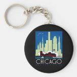 1930 Visit Chicago Poster Keychains