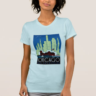 1930 Visit Chicago Poster T Shirt