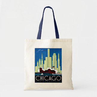 1930 Visit Chicago Poster Tote Bag