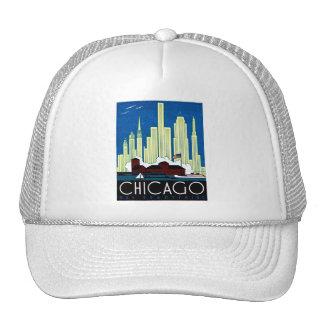 1930 Visit Chicago Poster Trucker Hat