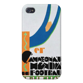 1930 World Cup Football Poster iPhone 4 Cases