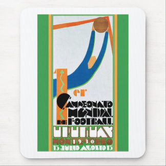 1930 World Cup Football Poster Mouse Pad