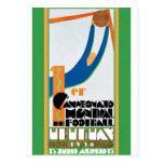 1930 World Cup Football Poster Postcard