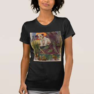 1930s adorable puppy and bullfrogs tee shirt