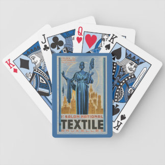 1930s Art Deco Brussels first textile fair Bicycle Playing Cards