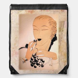 1930s Art Deco Fashion Era Drawstring Bag