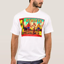 1930s Athlete fruit crate label T-Shirt