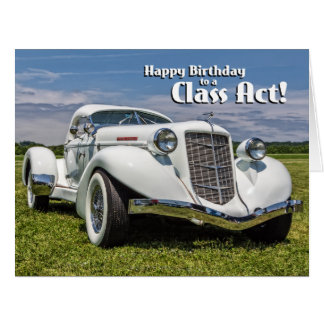 1930s Auburn Speedster Classic Car Big Birthday Card