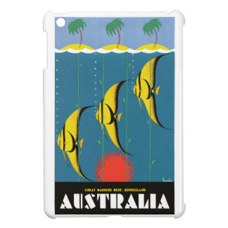 1930's Australia Great Barrier Reef Travel Poster iPad Mini Cover