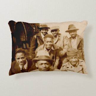 .1930s boyz from the hood RPPC Accent Pillow