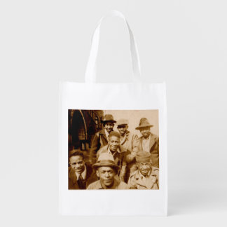 1930s boyz from the hood RPPC Grocery Bag