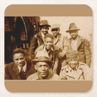 1930s boyz from the hood RPPC Square Paper Coaster