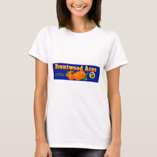 1930s Brentwood Aces apricots crate label T-Shirt
