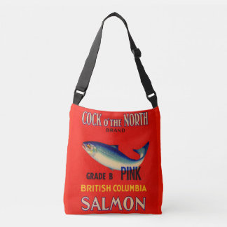 1930s Cock o' the North salmon can label Crossbody Bag
