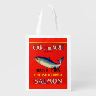 1930s Cock o' the North salmon can label Grocery Bag