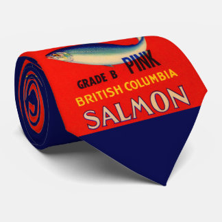 1930s Cock o' the North salmon can label Tie