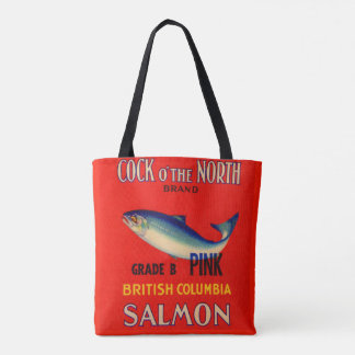 1930s Cock o' the North salmon can label Tote Bag