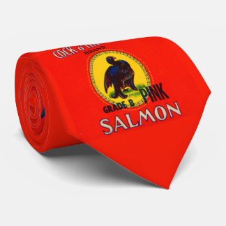 1930s Cock of the North salmon can label Tie