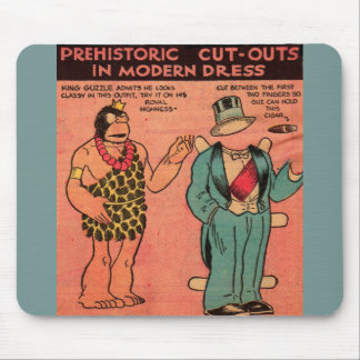 1930s comics cave man paper doll King Guzzle Mouse Pad