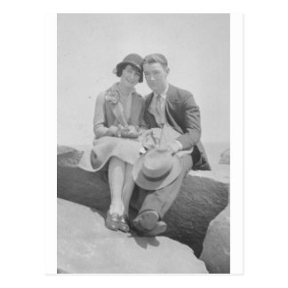 1930's Couple Postcard