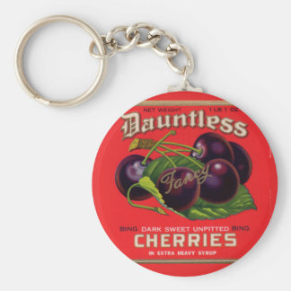 1930s Dauntless Cherries in Heavy Syrup can label Keychain