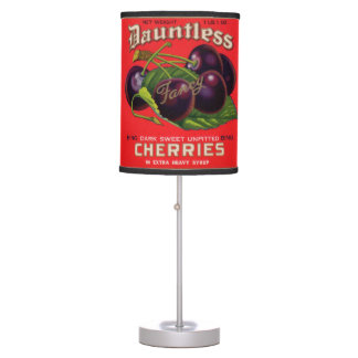 1930s Dauntless Cherries in Heavy Syrup can label Table Lamp